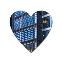 Modern Business Architecture Heart Magnet