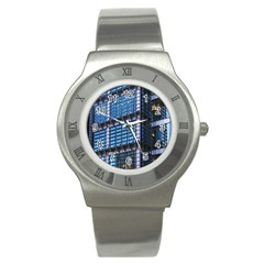 Modern Business Architecture Stainless Steel Watch