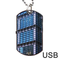Modern Business Architecture Dog Tag USB Flash (Two Sides)