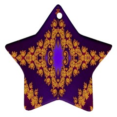 Something Different Fractal In Orange And Blue Ornament (star)