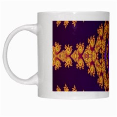 Something Different Fractal In Orange And Blue White Mugs