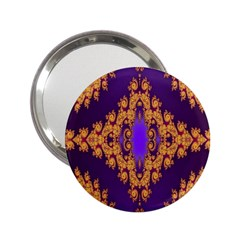 Something Different Fractal In Orange And Blue 2.25  Handbag Mirrors