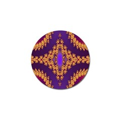 Something Different Fractal In Orange And Blue Golf Ball Marker (10 pack)