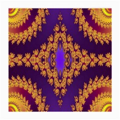 Something Different Fractal In Orange And Blue Medium Glasses Cloth (2 Side)
