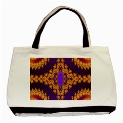Something Different Fractal In Orange And Blue Basic Tote Bag (two Sides)