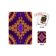 Something Different Fractal In Orange And Blue Playing Cards (mini)