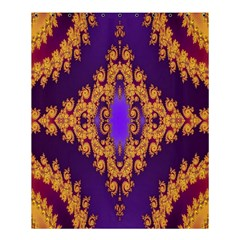 Something Different Fractal In Orange And Blue Shower Curtain 60  X 72  (medium)