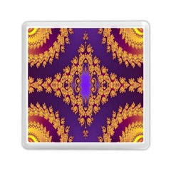Something Different Fractal In Orange And Blue Memory Card Reader (square)