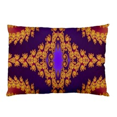 Something Different Fractal In Orange And Blue Pillow Case (two Sides)