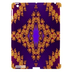 Something Different Fractal In Orange And Blue Apple iPad 3/4 Hardshell Case (Compatible with Smart Cover)