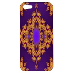 Something Different Fractal In Orange And Blue Apple Iphone 5 Hardshell Case
