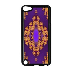 Something Different Fractal In Orange And Blue Apple iPod Touch 5 Case (Black)