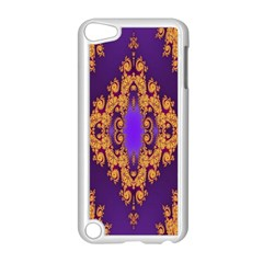 Something Different Fractal In Orange And Blue Apple Ipod Touch 5 Case (white)