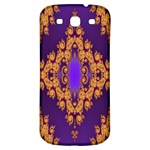 Something Different Fractal In Orange And Blue Samsung Galaxy S3 S III Classic Hardshell Back Case Front