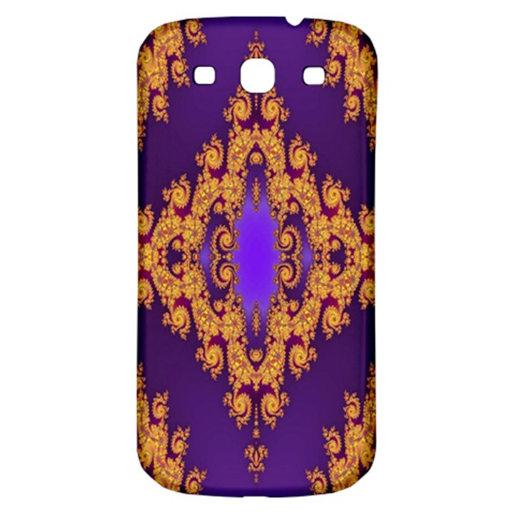 Something Different Fractal In Orange And Blue Samsung Galaxy S3 S III Classic Hardshell Back Case