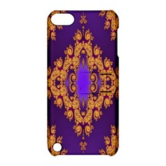 Something Different Fractal In Orange And Blue Apple iPod Touch 5 Hardshell Case with Stand