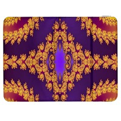 Something Different Fractal In Orange And Blue Samsung Galaxy Tab 7  P1000 Flip Case