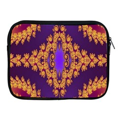 Something Different Fractal In Orange And Blue Apple iPad 2/3/4 Zipper Cases