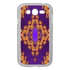 Something Different Fractal In Orange And Blue Samsung Galaxy Grand Duos I9082 Case (white)