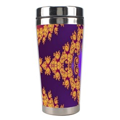 Something Different Fractal In Orange And Blue Stainless Steel Travel Tumblers