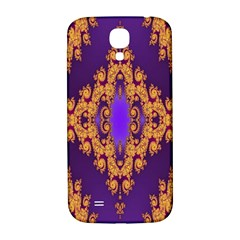 Something Different Fractal In Orange And Blue Samsung Galaxy S4 I9500/i9505  Hardshell Back Case