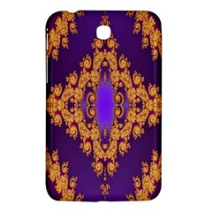 Something Different Fractal In Orange And Blue Samsung Galaxy Tab 3 (7 ) P3200 Hardshell Case