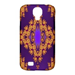 Something Different Fractal In Orange And Blue Samsung Galaxy S4 Classic Hardshell Case (PC+Silicone)