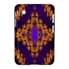 Something Different Fractal In Orange And Blue Samsung Galaxy Tab 2 (7 ) P3100 Hardshell Case