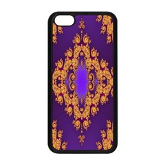 Something Different Fractal In Orange And Blue Apple iPhone 5C Seamless Case (Black)