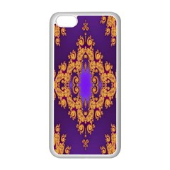Something Different Fractal In Orange And Blue Apple iPhone 5C Seamless Case (White)