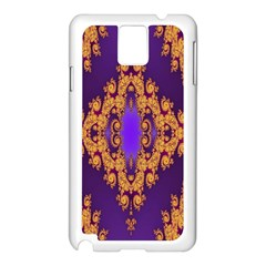 Something Different Fractal In Orange And Blue Samsung Galaxy Note 3 N9005 Case (White)