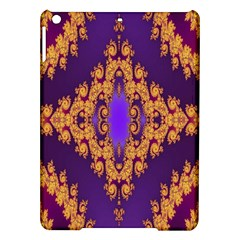 Something Different Fractal In Orange And Blue iPad Air Hardshell Cases