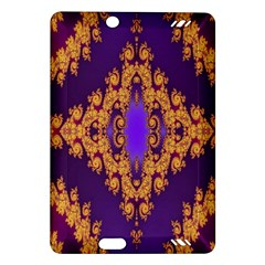 Something Different Fractal In Orange And Blue Amazon Kindle Fire HD (2013) Hardshell Case