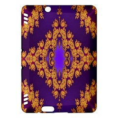 Something Different Fractal In Orange And Blue Kindle Fire HDX Hardshell Case