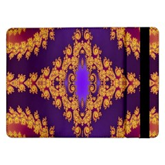 Something Different Fractal In Orange And Blue Samsung Galaxy Tab Pro 12.2  Flip Case