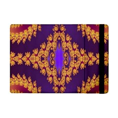 Something Different Fractal In Orange And Blue iPad Mini 2 Flip Cases