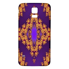 Something Different Fractal In Orange And Blue Samsung Galaxy S5 Back Case (White)