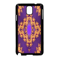 Something Different Fractal In Orange And Blue Samsung Galaxy Note 3 Neo Hardshell Case (Black)