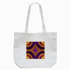 Something Different Fractal In Orange And Blue Tote Bag (White)