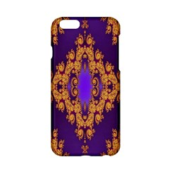 Something Different Fractal In Orange And Blue Apple iPhone 6/6S Hardshell Case