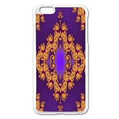 Something Different Fractal In Orange And Blue Apple iPhone 6 Plus/6S Plus Enamel White Case