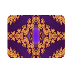 Something Different Fractal In Orange And Blue Double Sided Flano Blanket (mini)