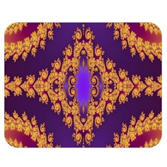 Something Different Fractal In Orange And Blue Double Sided Flano Blanket (medium)