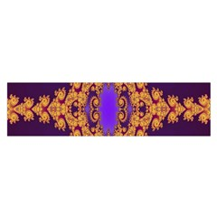 Something Different Fractal In Orange And Blue Satin Scarf (oblong)