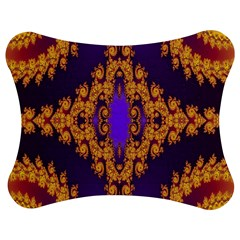 Something Different Fractal In Orange And Blue Jigsaw Puzzle Photo Stand (bow)