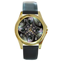 Magic Swirl Round Gold Metal Watch