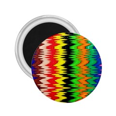 Colorful Liquid Zigzag Stripes Background Wallpaper 2 25  Magnets