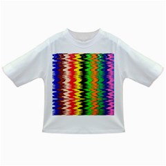 Colorful Liquid Zigzag Stripes Background Wallpaper Infant/Toddler T-Shirts