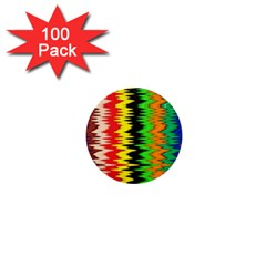 Colorful Liquid Zigzag Stripes Background Wallpaper 1  Mini Buttons (100 pack)