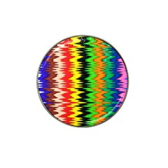 Colorful Liquid Zigzag Stripes Background Wallpaper Hat Clip Ball Marker (4 pack)
